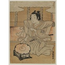 Isoda Koryusai: Child Playing Drum on Stand - Museum of Fine Arts