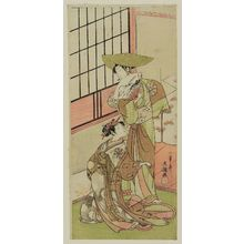 Ippitsusai Buncho: Actor Nakamura Noshio as a Courtesan and another actor - Museum of Fine Arts
