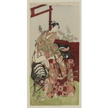 Ippitsusai Buncho: Actors Ichikawa Raizo as Inubo maru (?) and Yamashita Yaozo (?) as Terutehimé (?) - Museum of Fine Arts