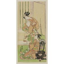 一筆斉文調: Actor Segawa Kikunojo II as Kagekeyo's daughter - ボストン美術館