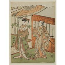 一筆斉文調: Actors Ichikawa Yaozô and Iwai Hanshirô - ボストン美術館