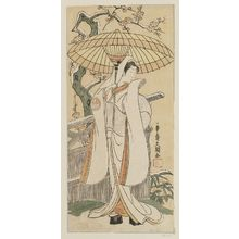 Ippitsusai Buncho: Actor Segawa Kikunojô II as the Snow Woman (Yuki onna), actually Tatsu-hime - Museum of Fine Arts