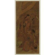 Ippitsusai Buncho: Actors Ichikawa Yaozô II as Hôjô Tokiyori and Segawa Kikunojô II as Tamagiku - Museum of Fine Arts
