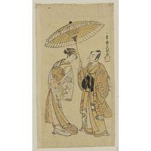 一筆斉文調: Actors Segawa Kikunojô II and Ichikawa Yaozô I - ボストン美術館