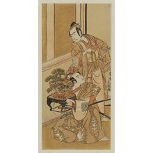 一筆斉文調: Actors Ichikawa Yaozô II as Tada Kurando and Ichikawa Komazô I as Suruga Jirô - ボストン美術館