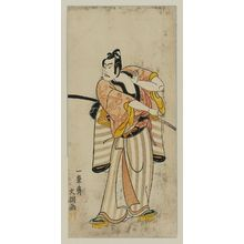 一筆斉文調: Actor Ichikawa Yaozo II, probably as Soga no Goro - ボストン美術館