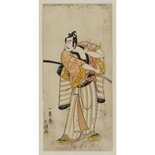 Ippitsusai Buncho: Actor Ichikawa Yaozo II, probably as Soga no Goro - Museum of Fine Arts