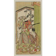 Ippitsusai Buncho: Actors Ichikawa Yaozô II and Nakamura Matsue I - Museum of Fine Arts