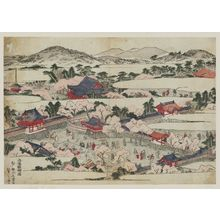 北尾重政: View of Daigo-ji Temple in Eastern Kyoto (Rakuyô Daigo zu) - ボストン美術館