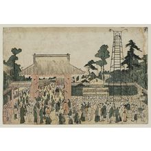 Kitao Shigemasa: Sumo at Ryogoku (Eko-in?) - Museum of Fine Arts