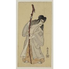 Katsukawa Shunsho: Actor dressed as a demon with a staff - Museum of Fine Arts