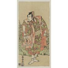 勝川春章: Actor Ichikawa Yaozo II as Soga no Goro - ボストン美術館