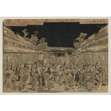 Kitao Shigemasa: Perspective view of the Yoshiwara at night - Museum of Fine Arts