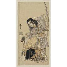 勝川春章: Actors Sawamura Sôjûrô II as Shunkan and Azuma Tôzô II as Oyasu - ボストン美術館
