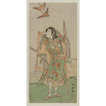 勝川春章: Actor Ichikawa Monnosuke II as Daito no Miya - ボストン美術館