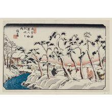 Keisai Eisen: No. 15, Itahana, from the series The Sixty-nine Stations of the Kisokaidô Road (Kisokaidô rokujûkyû tsugi no uchi) - Museum of Fine Arts