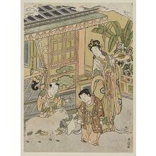 北尾重政: Chinese Boys with a Goat - ボストン美術館