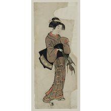 Kitao Shigemasa: Girl holding iris - Museum of Fine Arts