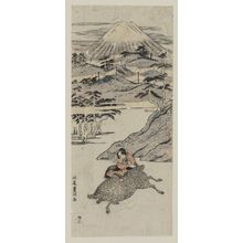 北尾重政: Yoritomo's Hunt at the Foot of Mount Fuji - ボストン美術館