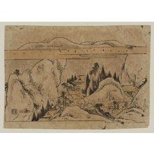 Kitao Shigemasa: Winter landscape. Series: Shokoku Meisho. - Museum of Fine Arts