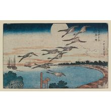Utagawa Hiroshige: Full Moon over Takanawa (Takanawa no meigetsu), from the series Famous Places in the Eastern Capital (Tôto meisho) - Museum of Fine Arts