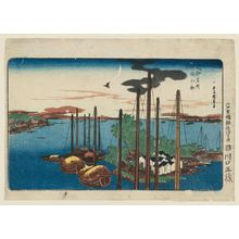 Utagawa Hiroshige: First Cuckoo of the Year at Tsukudajima (Tsukudajima hatsu hototogisu), from the series Famous Places in the Eastern Capital (Tôto meisho) - Museum of Fine Arts