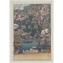 Yoshida Hiroshi: Arashiyama, from the series Eight Scenes of Cherry Blossoms (Sakura hachi dai) - Museum of Fine Arts