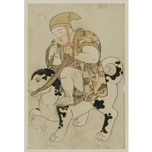Kitao Shigemasa: Child Riding a Dog - Museum of Fine Arts