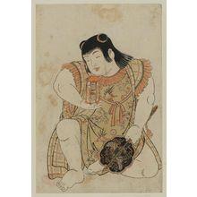 Kitao Shigemasa: Sunadokei. Boy holding toys - Museum of Fine Arts