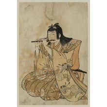 北尾重政: Flute Player, from an untitled set of Five Musicians (Gonin-bayashi) - ボストン美術館