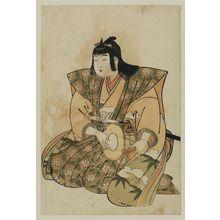 北尾重政: Large Hand Drum, from an untitled set of Five Musicians (Gonin-bayashi) - ボストン美術館