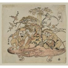 Morino Sôgyoku: The Twelfth Month (Gokugetsu): Daikoku and Ebisu, from an untitled series of the Seven Gods of Good Fortune in the Twelve Months - Museum of Fine Arts