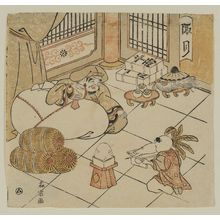 Morino Sôgyoku: The First Month (Sôgetsu): Daikoku and Chinese Child, from an untitled series of the Seven Gods of Good Fortune in the Twelve Months - Museum of Fine Arts