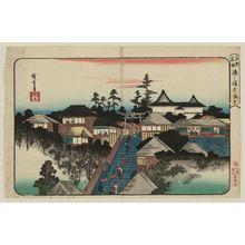 Utagawa Hiroshige: Tenmangû Shrine at Yushima (Yushima Tenmangû), from the series Famous Places in Edo (Kôto meisho) - Museum of Fine Arts