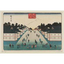 歌川広重: Evening View of Kasumigaseki (Kasumigaseki yûkei), from the series Famous Places in the Eastern Capital (Tôto meisho) - ボストン美術館