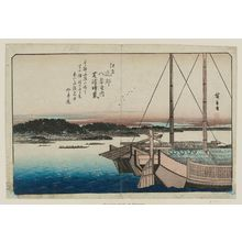 歌川広重: Clearing Weather at Shibaura (Shibaura no seiran), from the series Eight Views in the Environs of Edo (Edo kinkô hakkei no uchi) - ボストン美術館