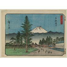歌川広重: Aoyama in Edo (Tôto Aoyama), from the series Thirty-six Views of Mount Fuji (Fuji sanjûrokkei) - ボストン美術館