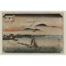 歌川広重: Descending Geese at Katada (Katada rakugan), from the series Eight Views of Ômi (Ômi hakkei no uchi) - ボストン美術館