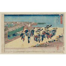 歌川広重: Kuken-chô in the Shinmachi Pleasure Quarter (Shinmachi Kuken-chô), from the series Famous Views of Osaka (Naniwa meisho zue) - ボストン美術館