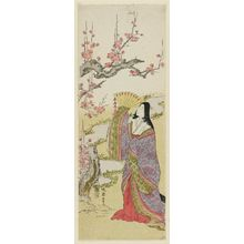 Banki Harumasa: Court Lady and Plum Blossoms - Museum of Fine Arts