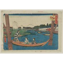 Utagawa Hiroshige: Ôhashi, Nakazu, Mitsumata, from the series Famous Places in Edo (Edo meisho) - Museum of Fine Arts