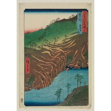 Utagawa Hiroshige: Buzen Province: The Passage Under the Rakan Monastery (Buzen, Rakanji shita michi), from the series Famous Places in the Sixty-odd Provinces [of Japan] ([Dai Nihon] Rokujûyoshû meisho zue) - Museum of Fine Arts