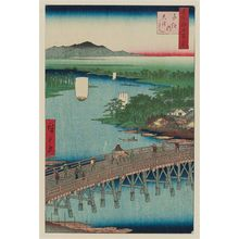 Utagawa Hiroshige: Senju Great Bridge (Senju no Ôhashi), from the series One Hundred Famous Views of Edo (Meisho Edo hyakkei) - Museum of Fine Arts