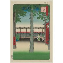 歌川広重: Dawn at Kanda Myôjin Shrine (Kanda Myôjin akebono no kei), from the series One Hundred Famous Views of Edo (Meisho Edo hyakkei) - ボストン美術館