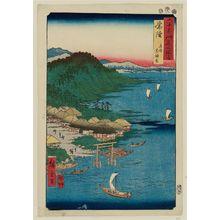 歌川広重: Hitachi Province: Daijingû Shrine in Kashima (Hitachi, Kashima, Daijingû), from the series Famous Places in the Sixty-odd Provinces [of Japan] ([Dai Nihon] Rokujûyoshû meisho zue) - ボストン美術館