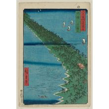 Utagawa Hiroshige: Tango Province: Ama no hashidate (Tango, Ama no hashidata), from the series Famous Places in the Sixty-odd Provinces [of Japan] ([Dai Nihon] Rokujûyoshû meisho zue) - Museum of Fine Arts