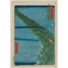 歌川広重: Tango Province: Ama no hashidate (Tango, Ama no hashidata), from the series Famous Places in the Sixty-odd Provinces [of Japan] ([Dai Nihon] Rokujûyoshû meisho zue) - ボストン美術館