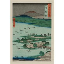 Utagawa Hiroshige: Kaga Province: The Eight Wonders of Kanazawa, The Fishing Fires on Lake Renko (Kaga, Kanazawa hassyô no uchi, Renko no isaribi), from the series Famous Places in the Sixty-odd Provinces [of Japan] ([Dai Nihon] Rokujûyoshû meisho zue) - Museum of Fine Arts