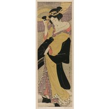 Kikugawa Eizan: Beauty with Umbrella in Snow - Museum of Fine Arts