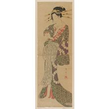 Katsukawa Shunsen: Courtesan Pushing Up Her Sleeve - Museum of Fine Arts